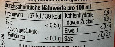 Cannewitzer Discocola - Nutrition facts - de