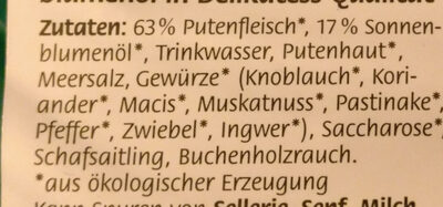Delikatess Geflügel Wiener - Ingredients