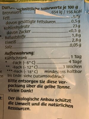 Knusper Pommes Wellenschnitt - Nutrition facts