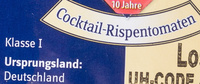 Cocktail-Rispentomaten - Ingrédients