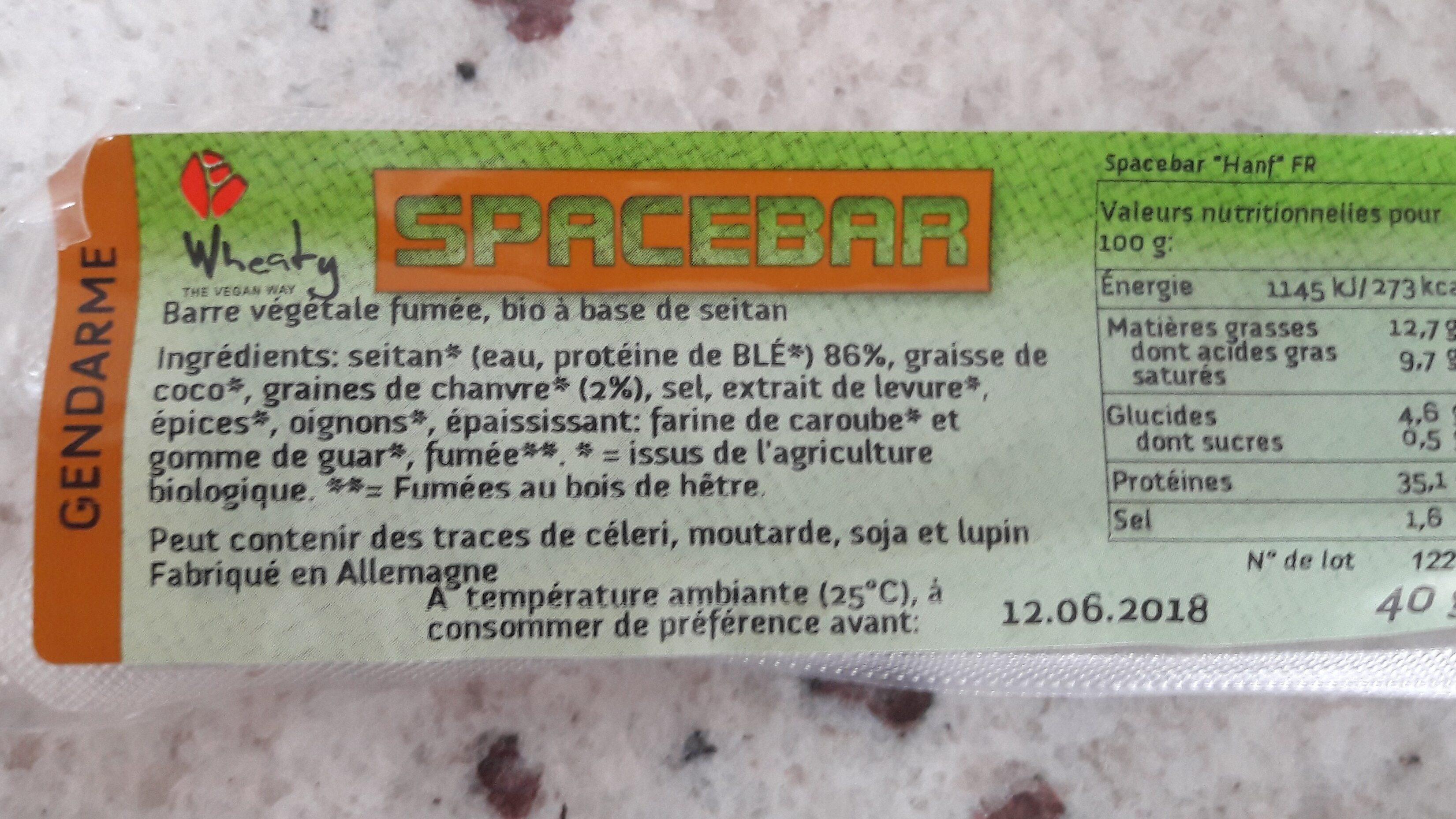 Space Bar - Ingrediënten