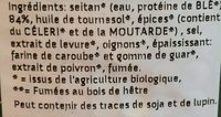 Seitan Veganslices Salami - Ingredients - fr