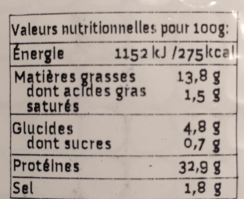 Wheaty végé'tranches à l'Italienne - Información nutricional