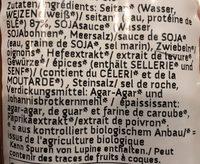 Wheaty Die Bratwurst - Ingredients