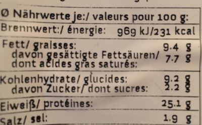 Veg'Escalope à la Viennoise - Nutrition facts