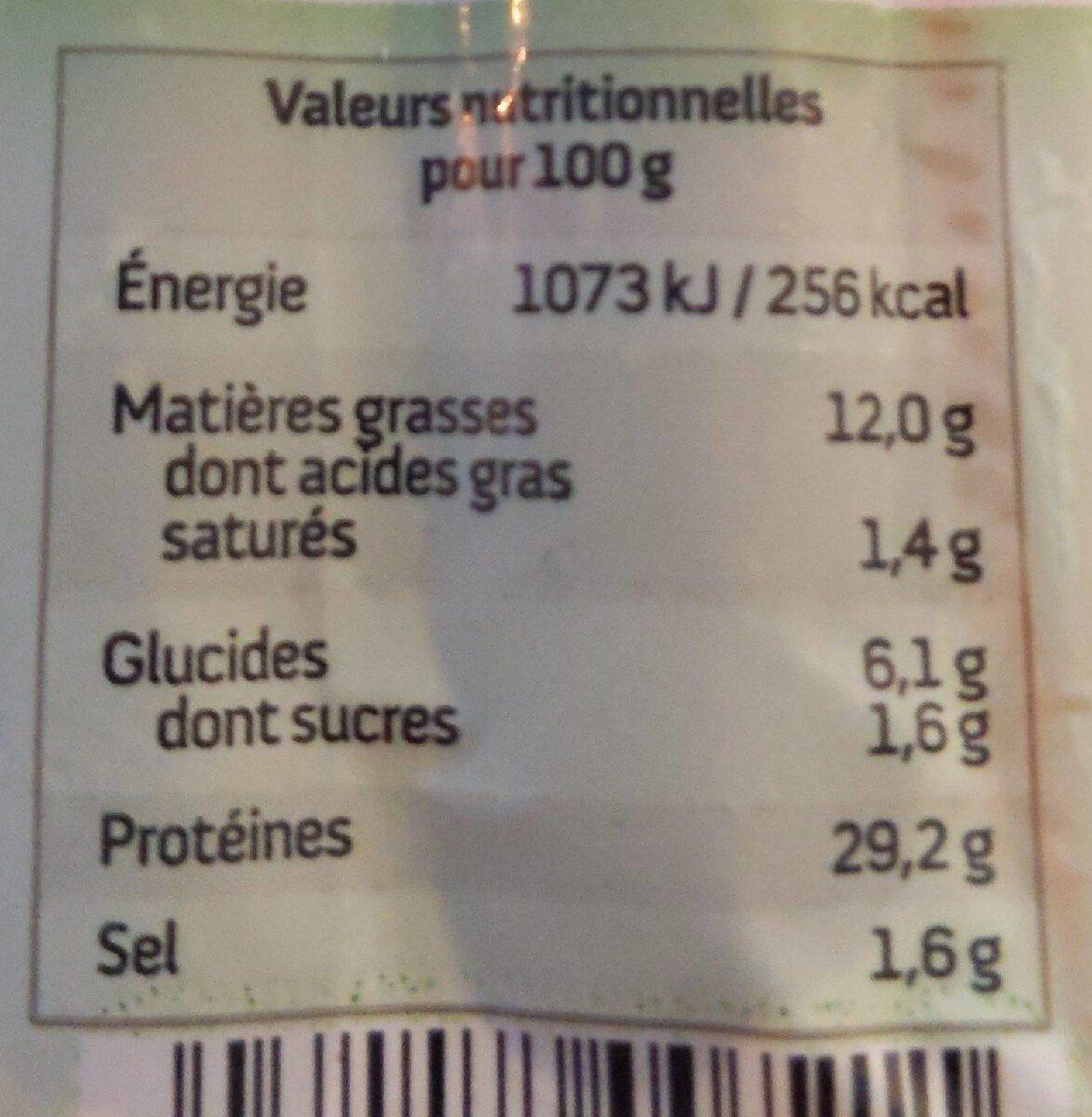 Vege'orientales - Voedingswaarden - fr