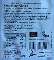 Fette Classiche Wheaty - Alternativa Al Formaggio - Ingredients