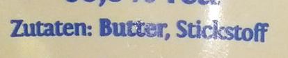 Butterschmalz - Ingredients