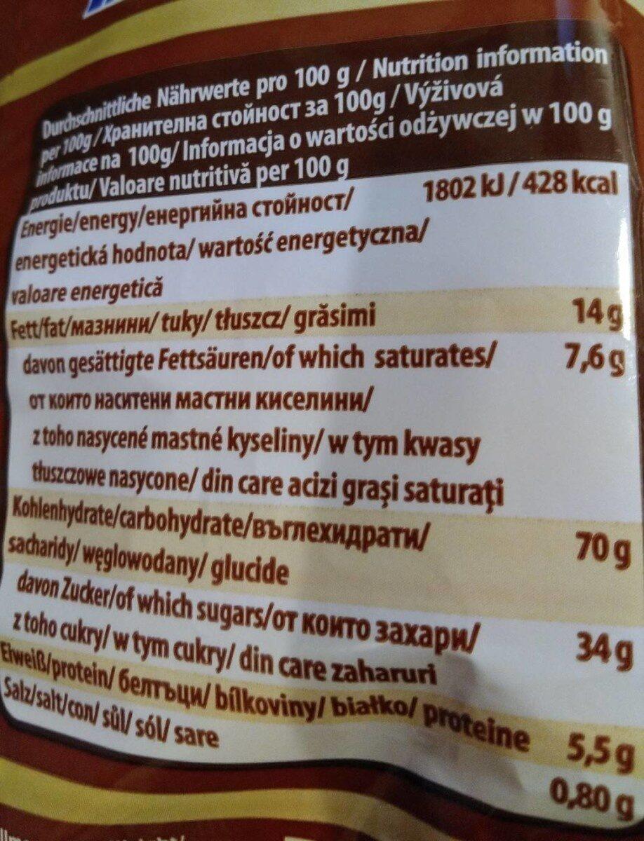 Hafergebäck mit Rosinen - Informations nutritionnelles - de