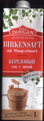 Birkensaft mit Minzgeschmack - Produkt