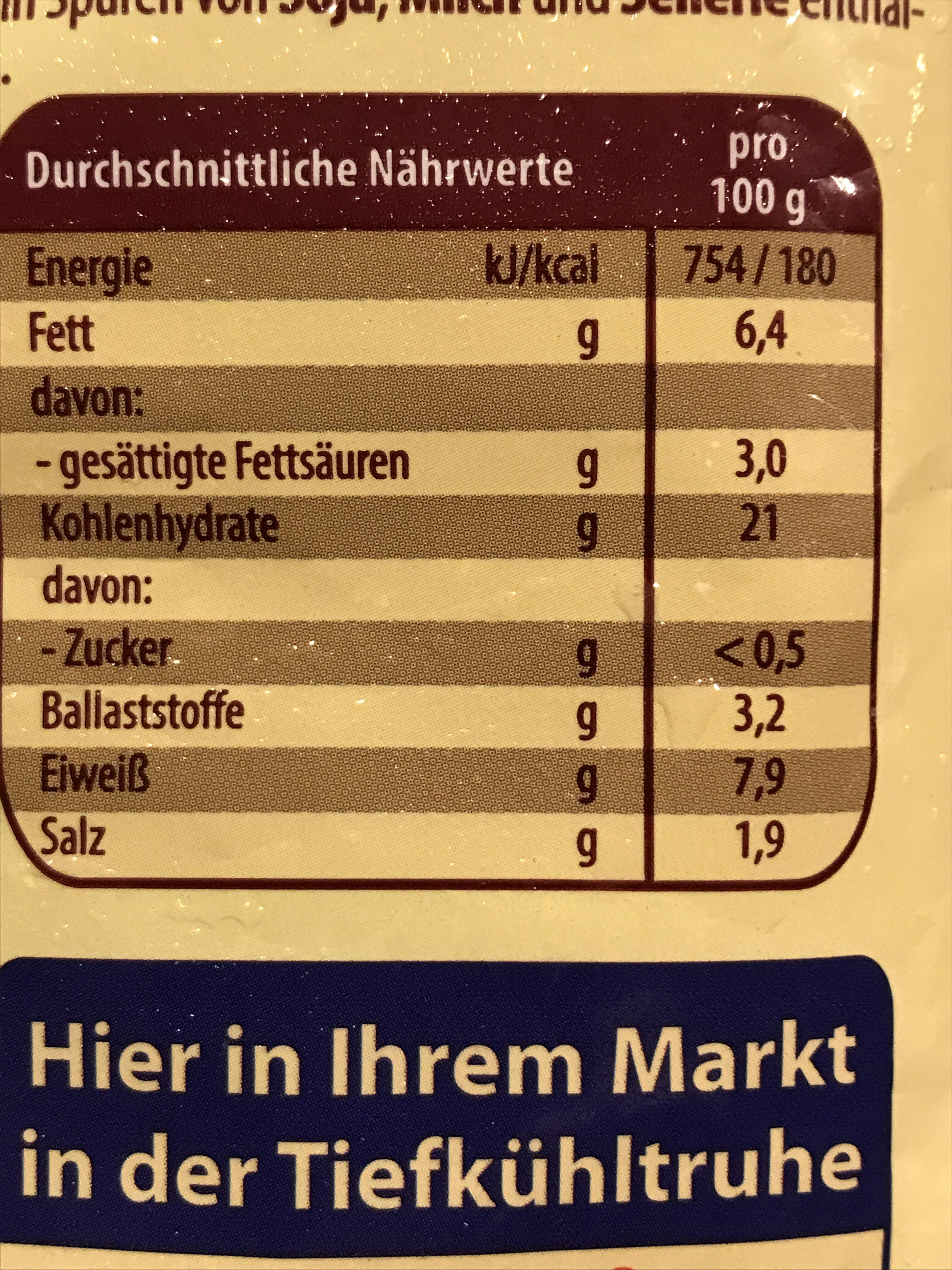 Teigtaschen nach Georgischer Art - Nutrition facts