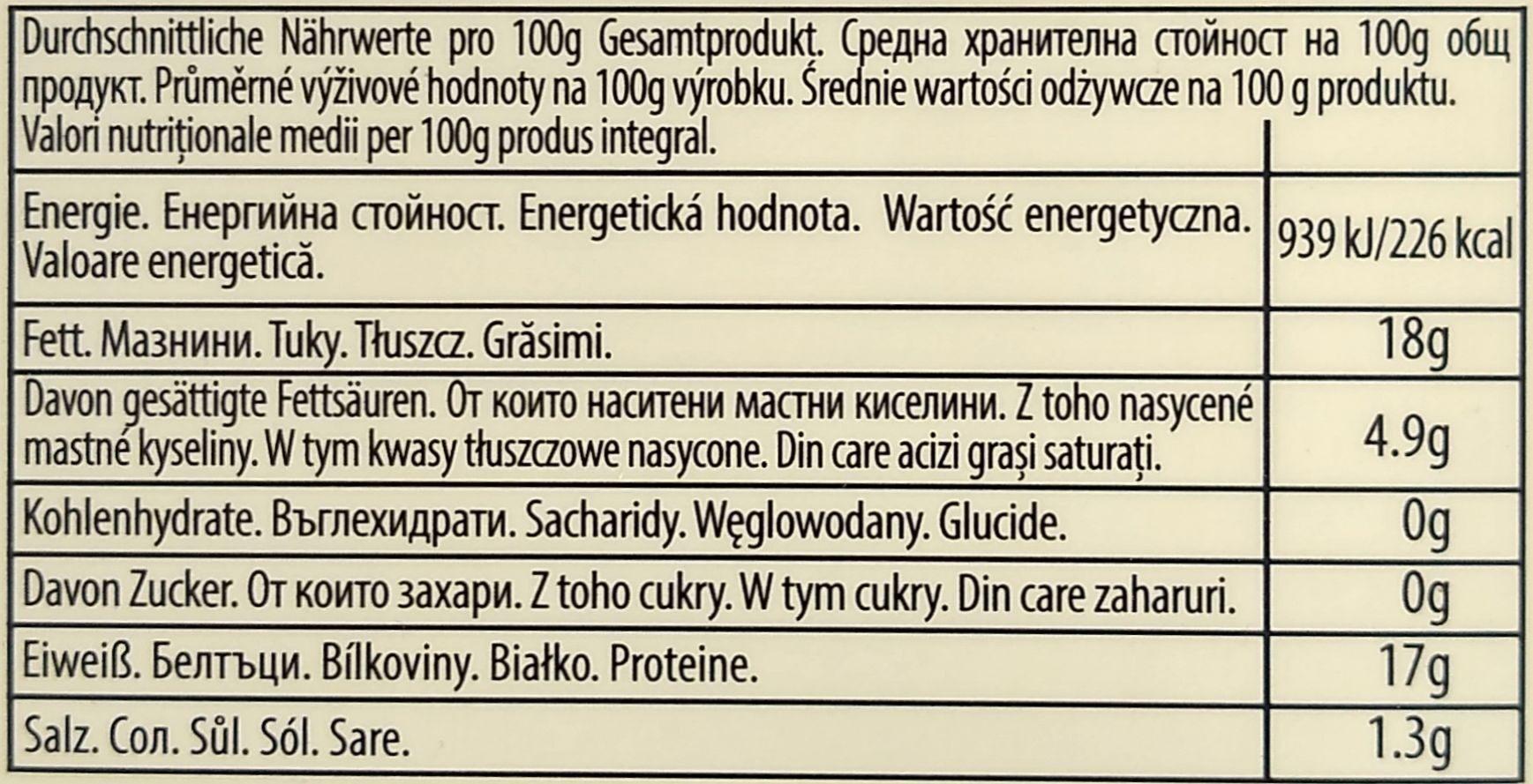 Gegrillte Sardinen in Olivenöl mit Chili - Nutrition facts - de