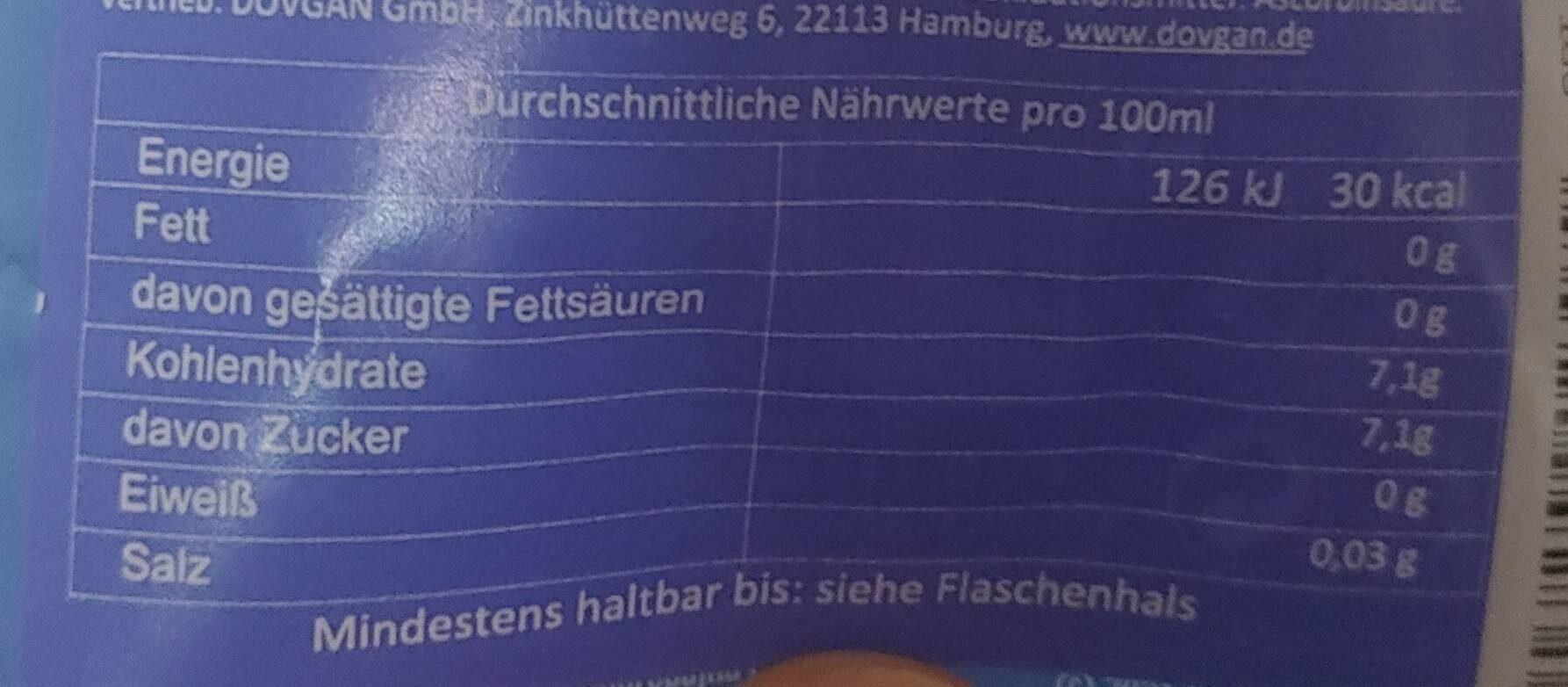 Fanta Holunderblüte - Informations nutritionnelles - en