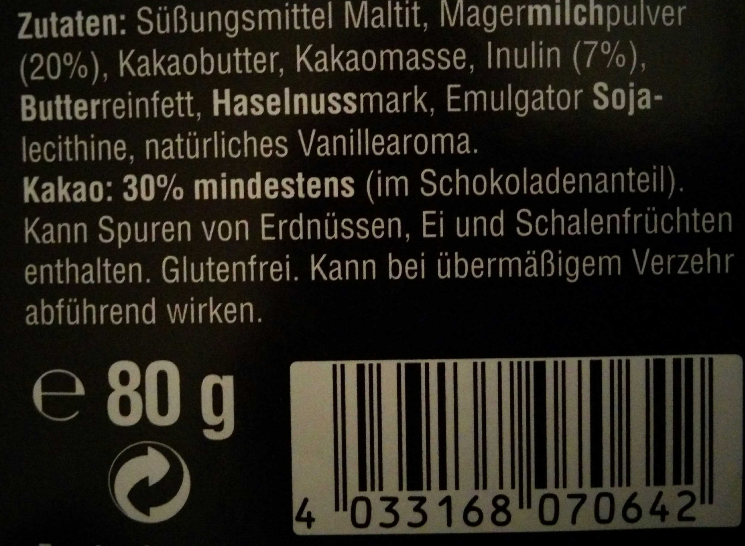 Vollmilch - Ingredients - de