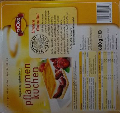 Plaumenkuchen - Ingrédients - en