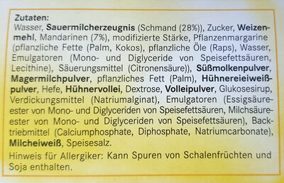 Schmand-Mandarine-Kuchen - 6 Stück - Ingredients