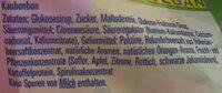 Kaubonbons - Ingredients - de