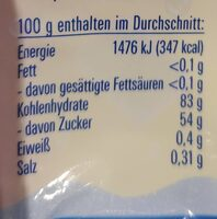Kaubonbons - Nutrition facts - de