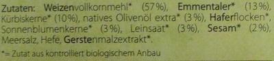 Käse & Kürbiskern - Ingredients