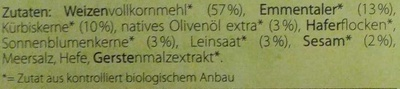 Käse & Kürbiskern - Zutaten