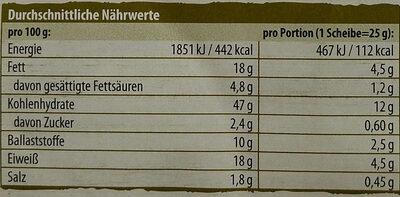 Karg's Organic Crispbread Emmental Cheese & Pumpkin Seed - Valori nutrizionali - de