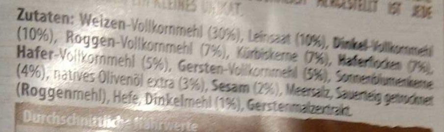 DR. Karg 5-korn Feinschmecker-knäckebrot - Ingredients - de
