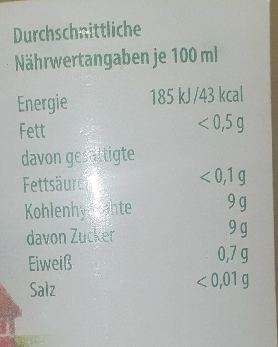 Orangensaft  100% Direktsaft - Valori nutrizionali - de