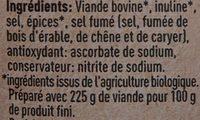 Beef Jerky Classic - Ingredients - fr