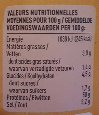 Beef Jerky Honey BBQ - Nutrition facts