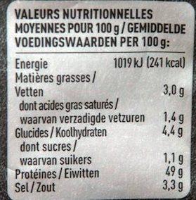 Beef Jerky Pepper - Nutrition facts - fr