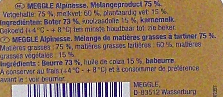Beurre fin enrichi d'huile de colza extra tartinable doux - Ingrediënten - fr