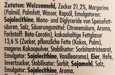 Eupro's Backland Zuckerwaffeln - Inhaltsstoffe - de