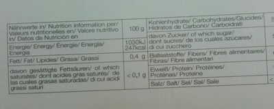 Mazafati Bio Dattel - Informations nutritionnelles - fr