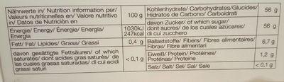 Mazafati Bio Dattel - Nutrition facts