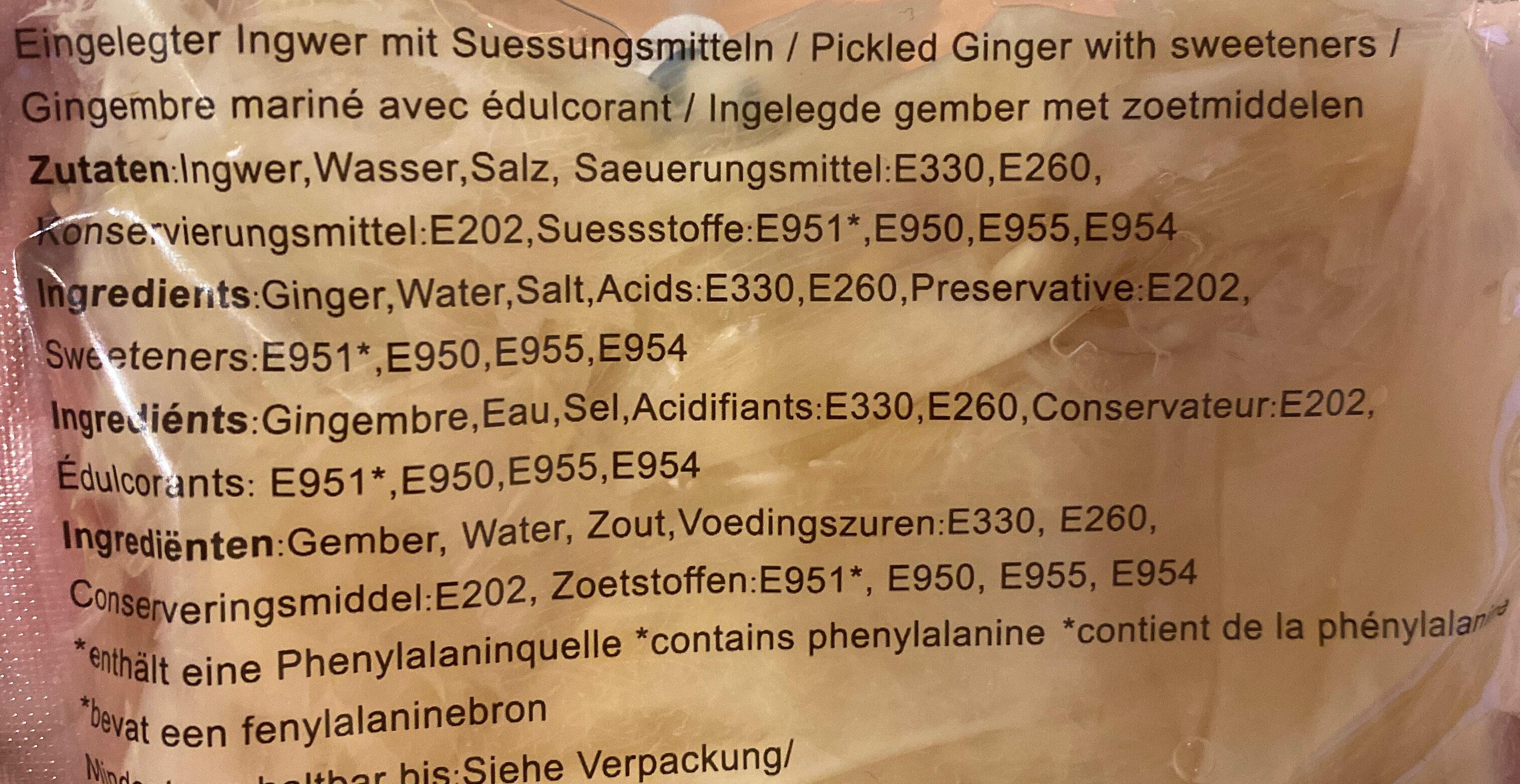 Sushi Ginger - Ingredients - de