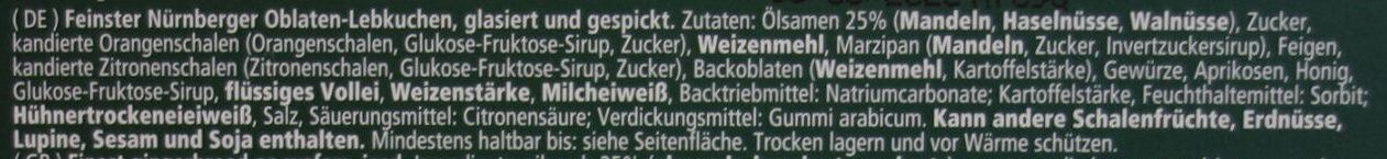 Nürnberger Elisen-Lebkuchen Der Große - Zutaten - de