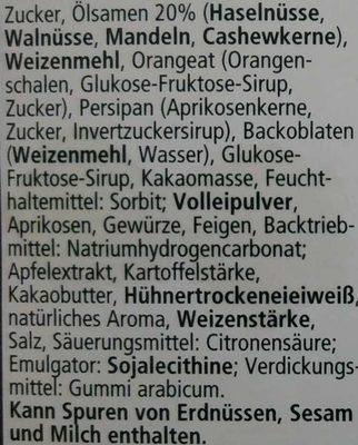 Feine Nürnberger Oblaten-Lebkuchen - Inhaltsstoffe