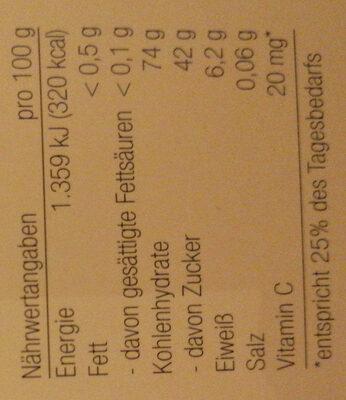 Frustschutz- Bärchen - Informations nutritionnelles - de