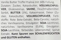 Happy Pralinen - Ingredients - de