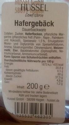Hafergebäck - Produkt