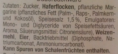 Hafergebäck - Ingredients