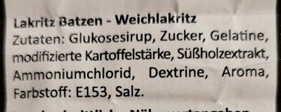 Lakritz Batzen - Ingredients - de