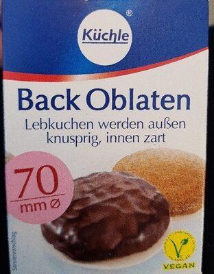 Back Oblaten - Produkt - de
