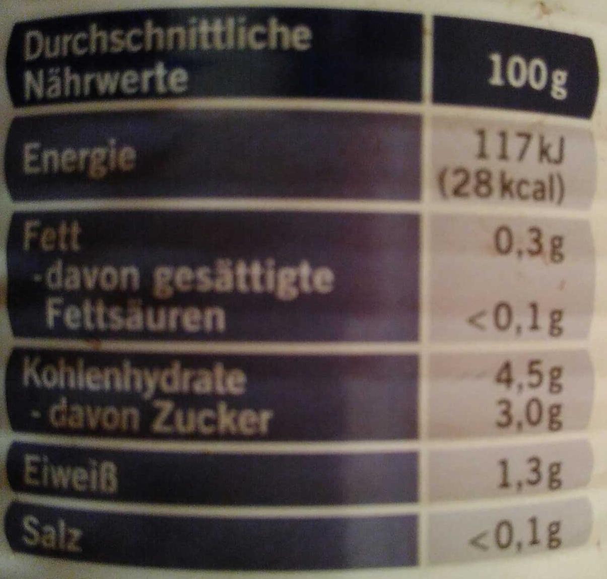 Tomaten Stückchen Cubetti - Informations nutritionnelles