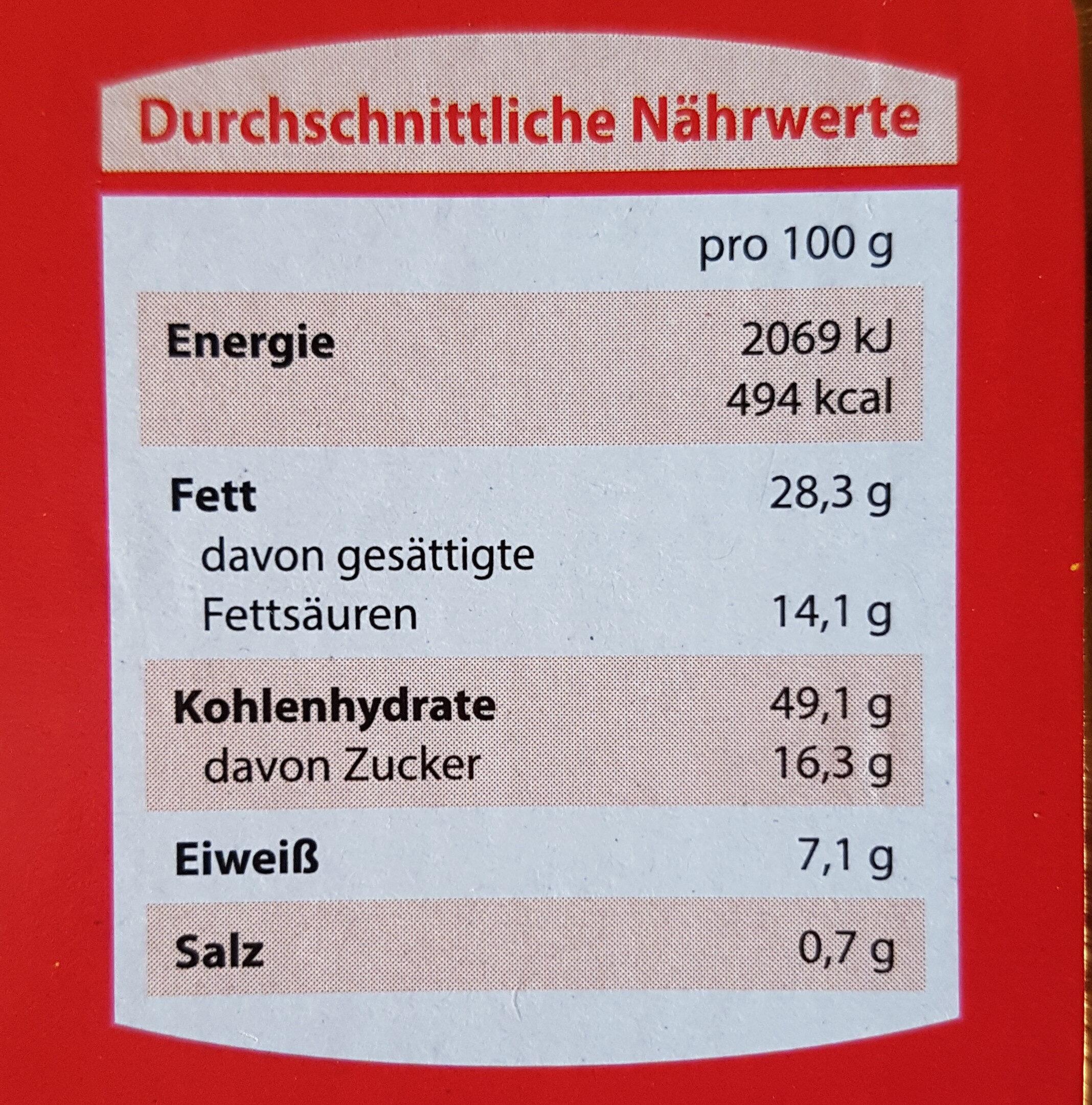 Mandelstollen - Nutrition facts