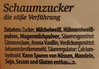Dresdner Krönchen - Feinster Schaumzucker - Ingredients