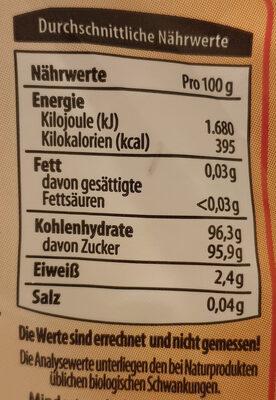 Dresdner Krönchen - Feinster Schaumzucker - Nutrition facts