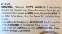 Emil Reimann Original Dresdner Stollen 1KG - Ingrédients - de