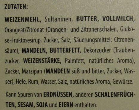 Dresdner Stollen - Ingredients - de