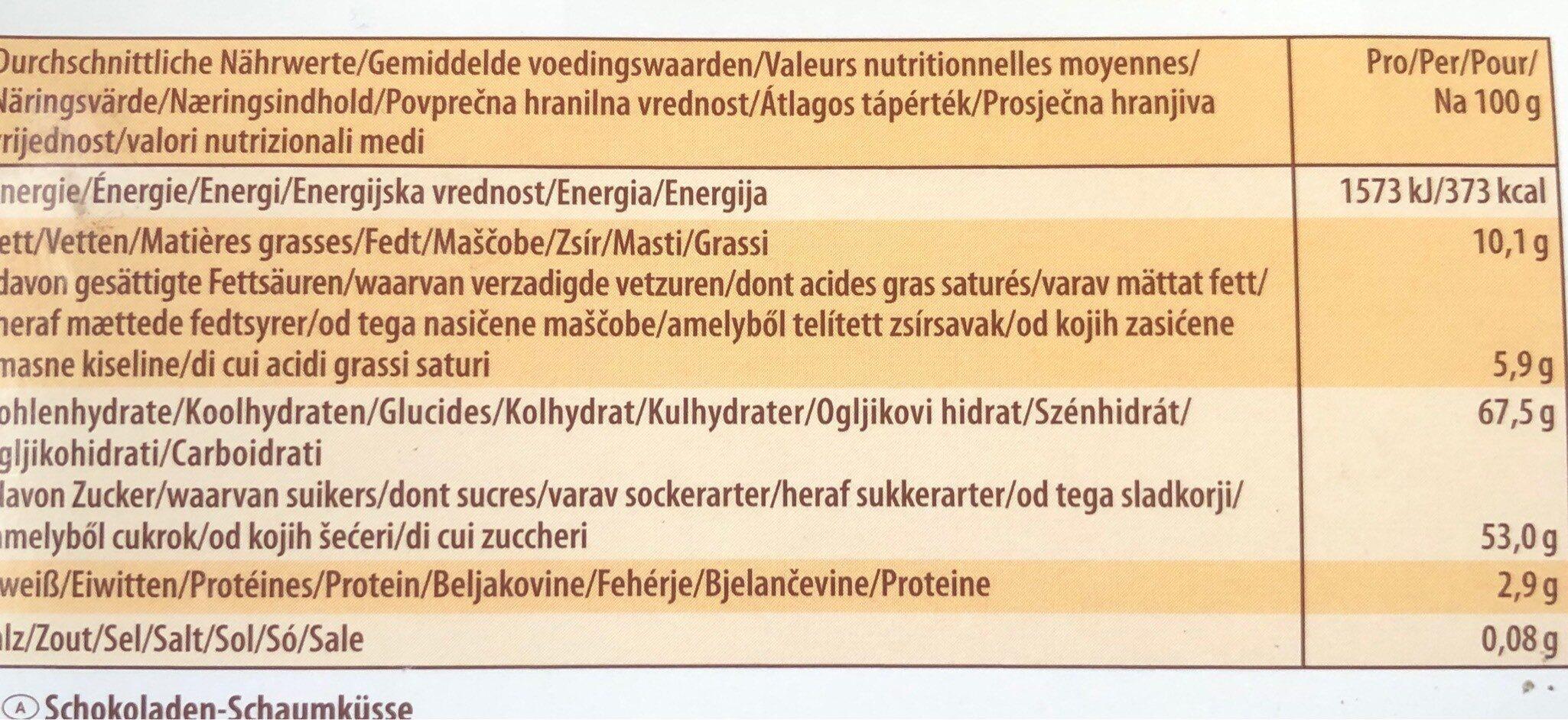 Guimauves - Voedingswaarden - de